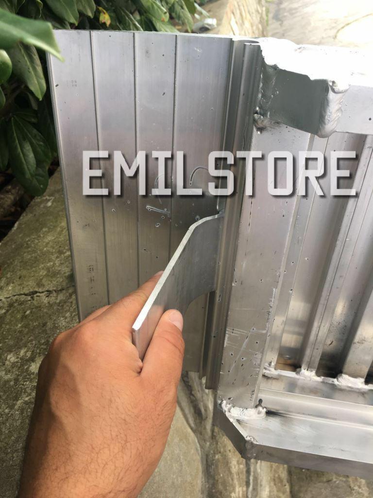 Rampe di carico in alluminio 3 metri h150 prezzo coppia for Rampe carico alluminio