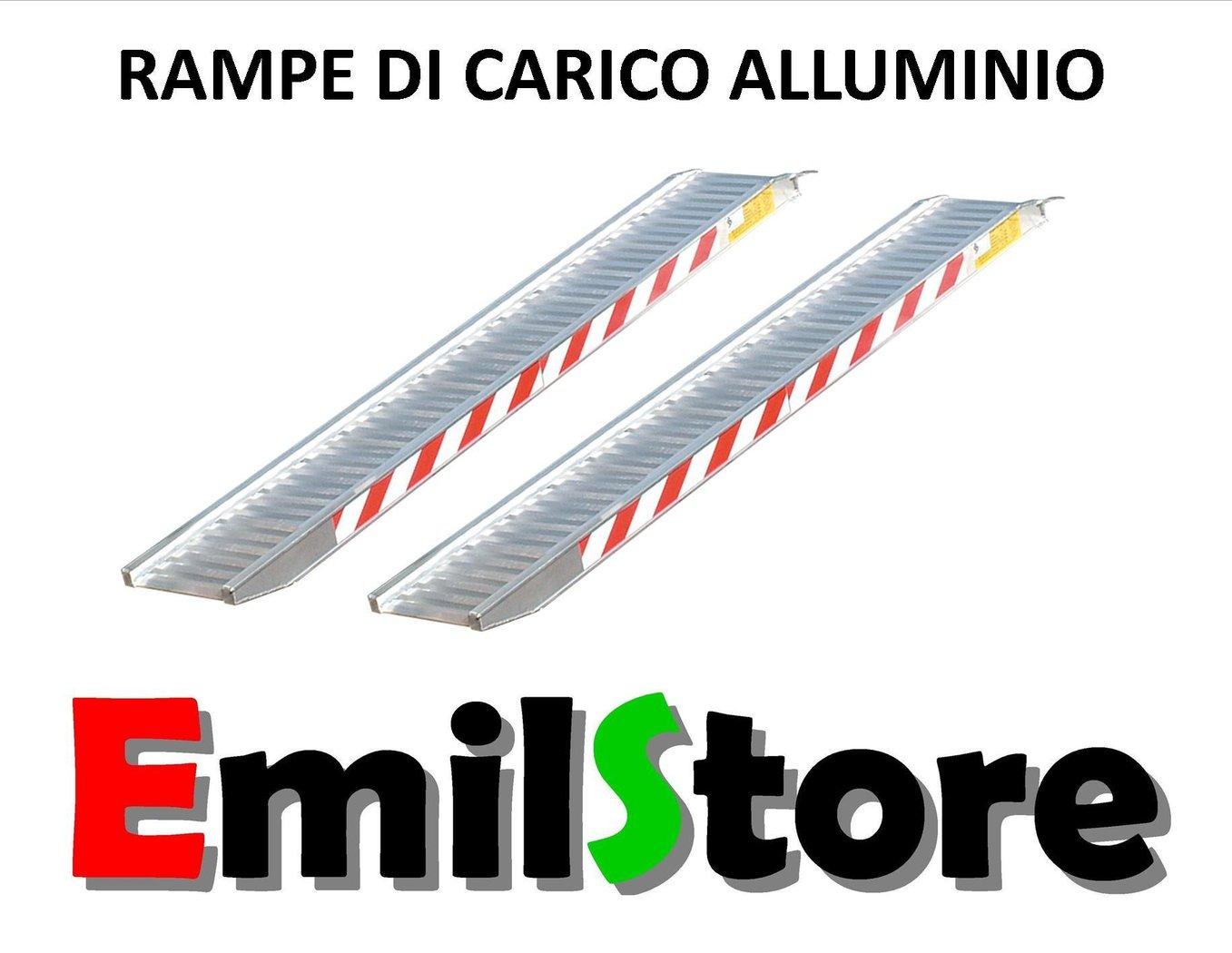 Rampe di carico alluminio 4 metri h190 senza bordi prezzo for Rampe carico alluminio