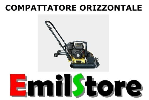 COMPATTATORE ORIZZONTALE 105 Kg PIASTRA VIBRANTE AUTOBLOCCANTI MODEL-A (MADE IN GERMANY)