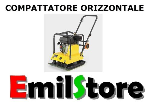 COMPATTATORE ORIZZONTALE 105 Kg PIASTRA VIBRANTE AUTOBLOCCANTI MODEL-B  (MADE IN GERMANY)
